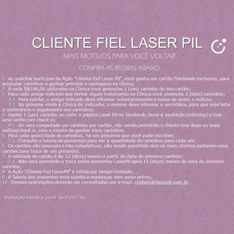 Cartão fidelidade: Cliente Fiel Laser Pil
